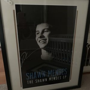 Shawn mendes authentic signed poster